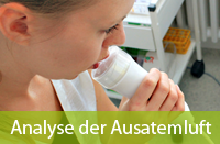Analyse der Ausatemluft