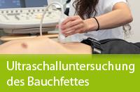 Ultraschalluntersuchung des Bauchfettes